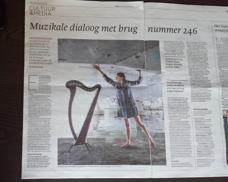 Muzikale dialoog met brug nummer 246- Trouw de Verdieping pag 10 3-8-2018